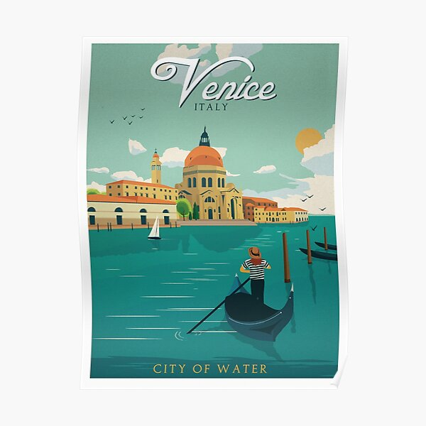 Vintage Travel Poster - Venice City of Water Poster
