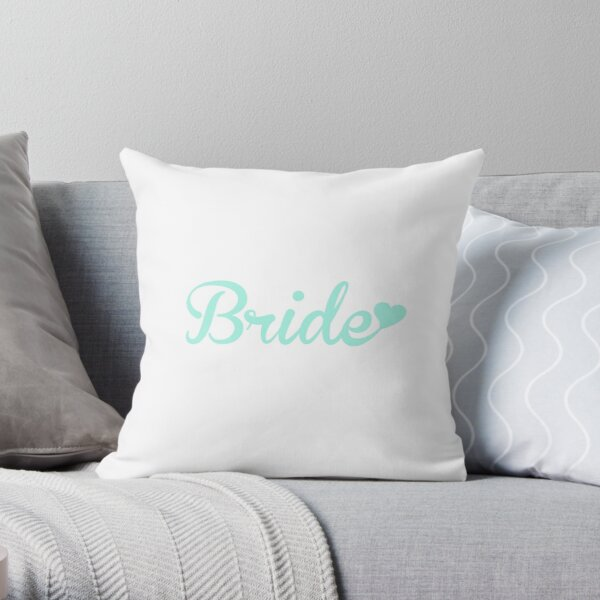 Bride Mint Throw Pillow