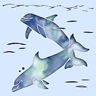 Blue Sea Dolphins by ferinefire
