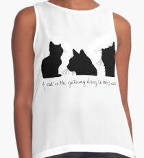 Cat Lady Design Sleeveless Top