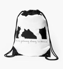 Cat Lady Design Drawstring Bag