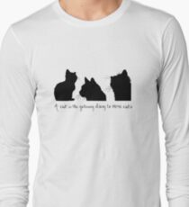 Cat Lady Design Long Sleeve T-Shirt