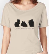 Cat Lady Design Relaxed Fit T-Shirt