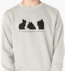 Cat Lady Design Pullover Sweatshirt