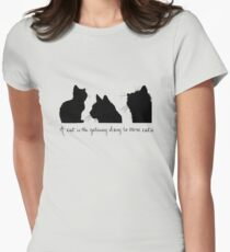 Cat Lady Design Fitted T-Shirt