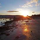 Sunset Shadows on the Shore - Bute by artyfifi