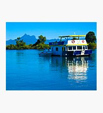 Living on the river Photographic Print