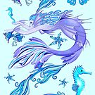 Mystic Mermaid Fairy Purple Creature by BluedarkArt