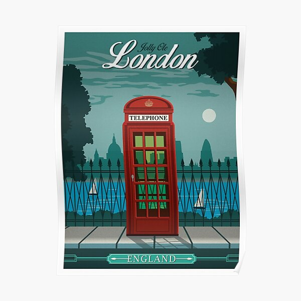 Affiche de voyage vintage - Londres Poster
