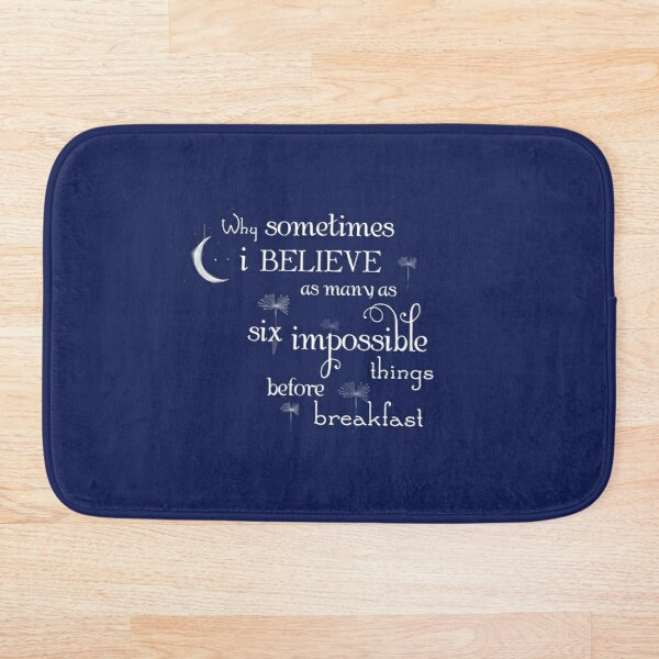 Impossible Things Moon Alice in Wonderland Bath Mat