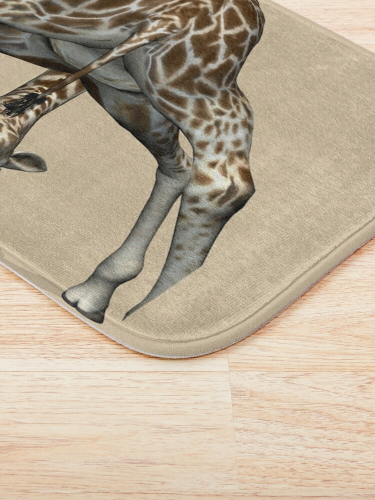 Alternate view of Childish Giraffe Bath Mat