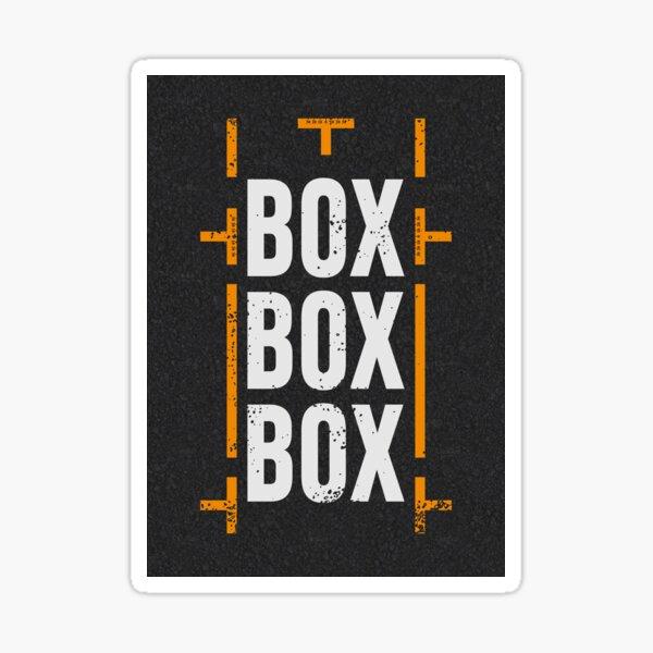«Box Box Box», conception de stands de course de Formule 1 Sticker