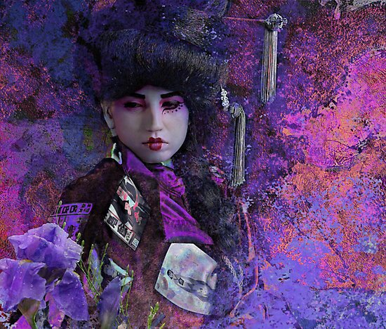 Geisha with Iris by Jeff Burgess