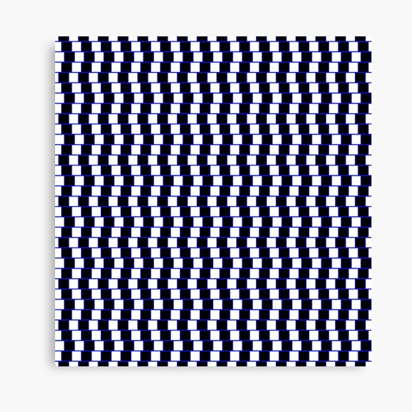 Visual Illusion #VisualIllusion Optical #OpticalIllusion #percept #reality Canvas Print