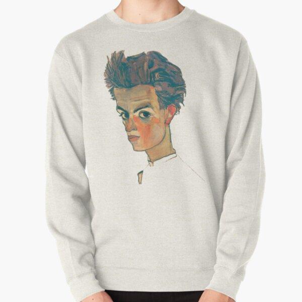 EGON SCHIELE - Self Portrait With Striped Shirt Pullover Sweatshirt