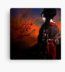 Geisha with Quince - resubmit Canvas Print