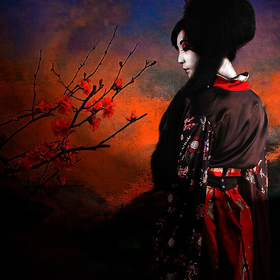 Geisha with Quince - resubmit by Jeff Burgess