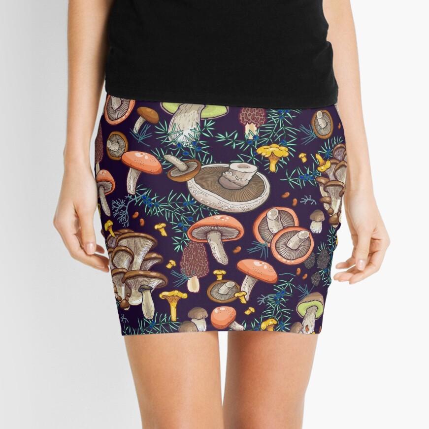 Dark dream forest Mini Skirt