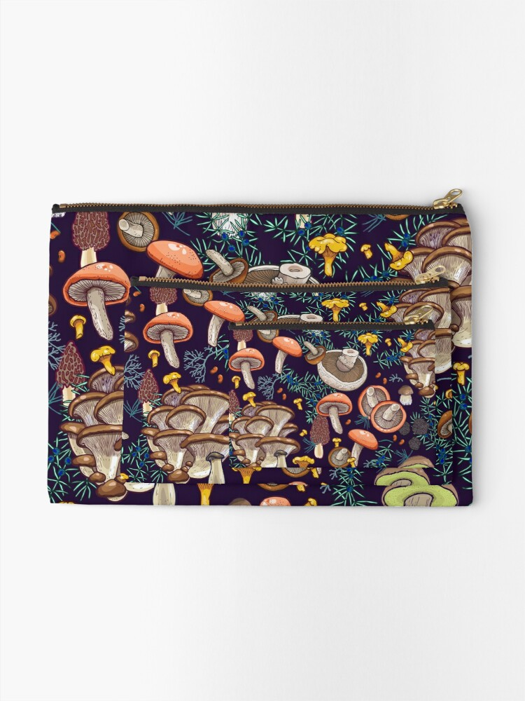 Alternate view of Dark dream forest Zipper Pouch