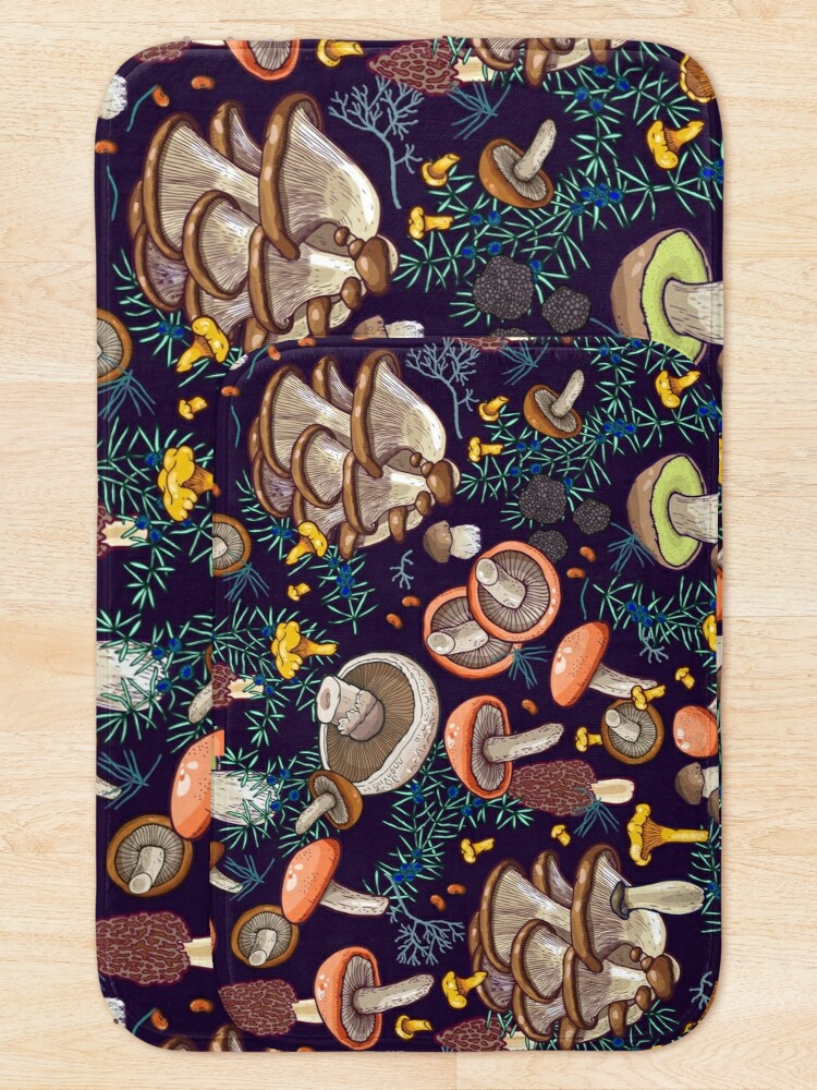 Alternate view of Dark dream forest Bath Mat