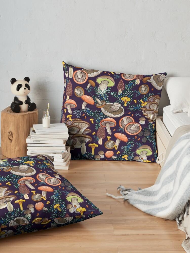 Alternate view of Dark dream forest Floor Pillow