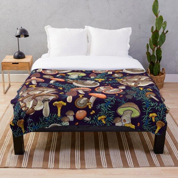 Dark dream forest Throw Blanket