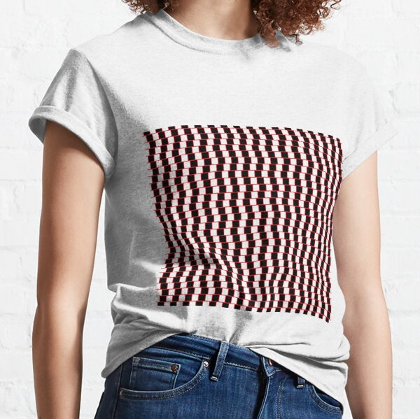Visual Illusion #VisualIllusion Optical #OpticalIllusion #percept #reality Classic T-Shirt