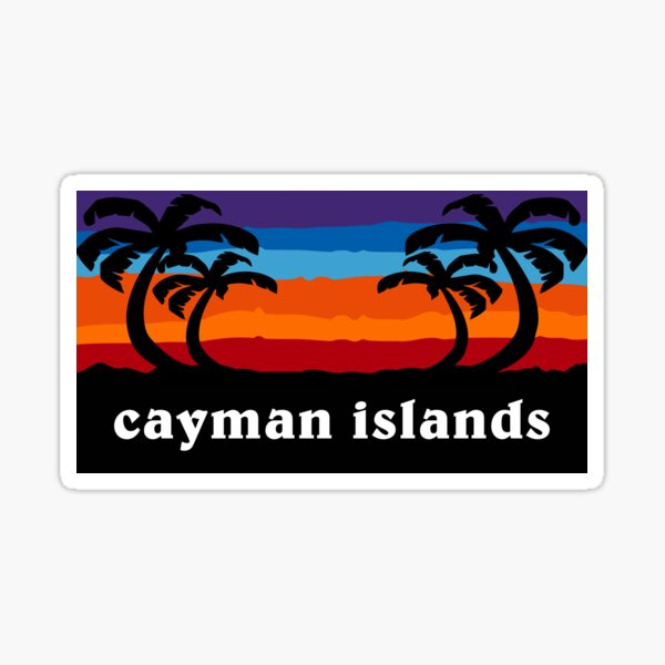Cayman Islands Beach Caribbean Sunset Palm Tree Outdoor Surfing Surf Cruise Vacation Gift Ideas Sticker