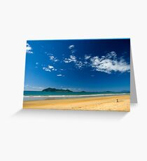 Sunny day,Dunk Island view. Greeting Card