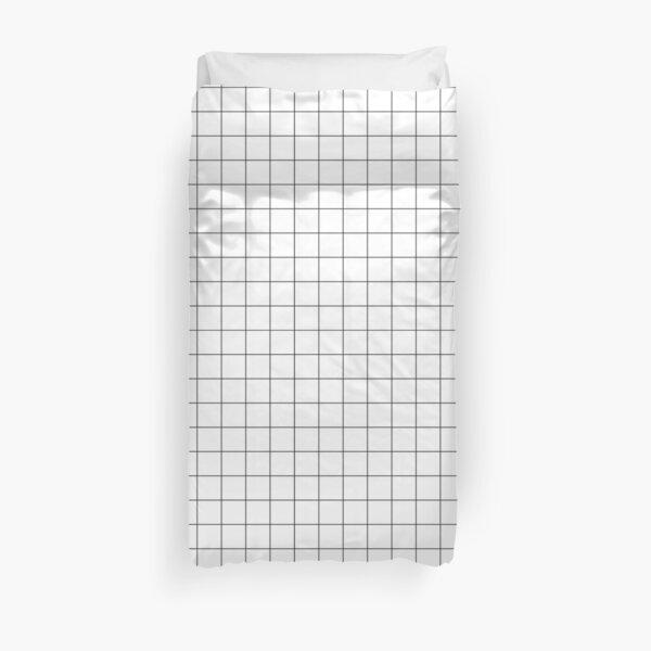 Black Grid Duvet Cover