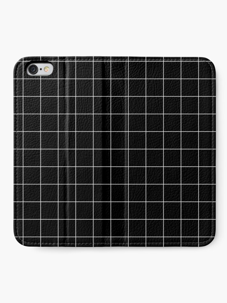 Alternate view of White Grid iPhone Wallet