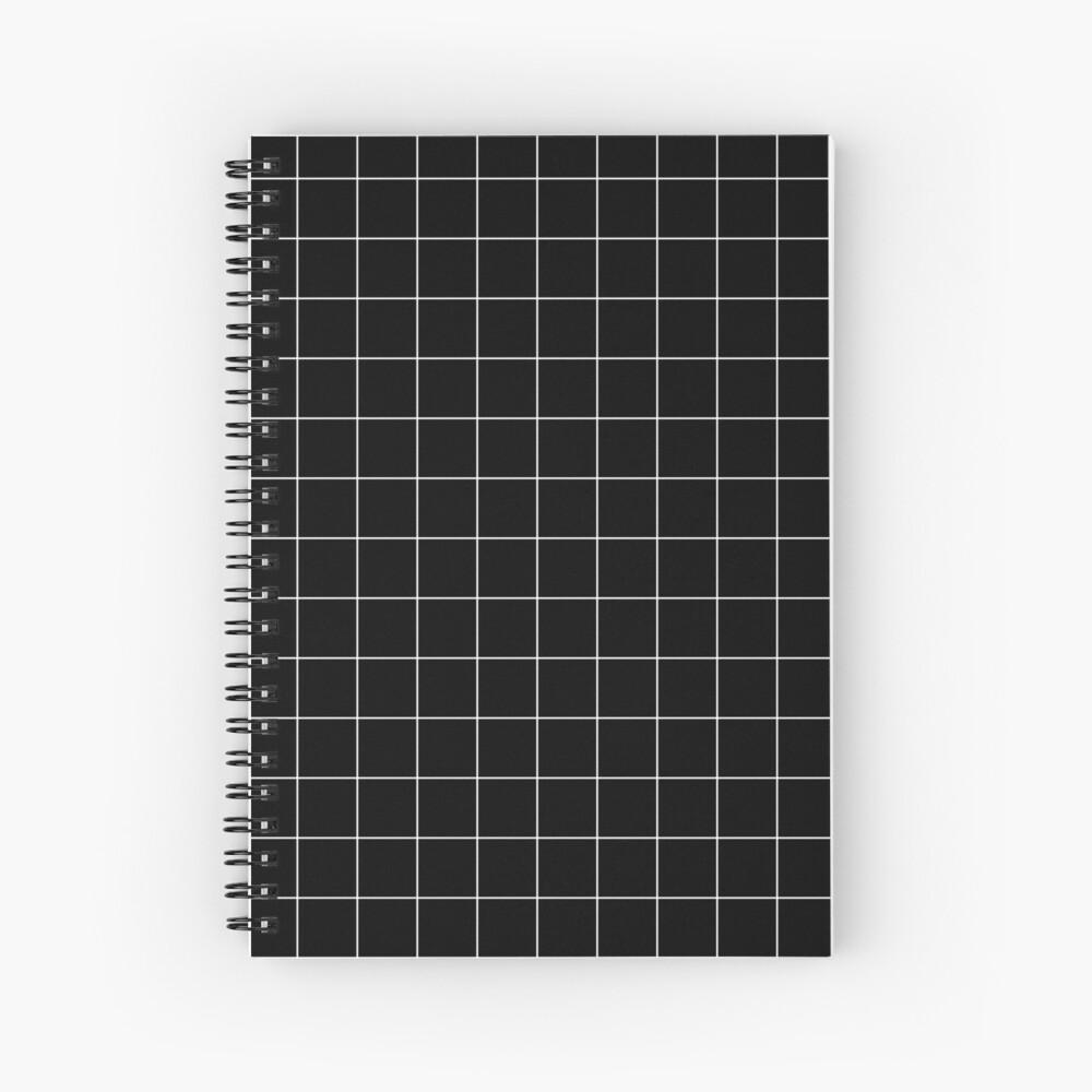 White Grid Spiral Notebook