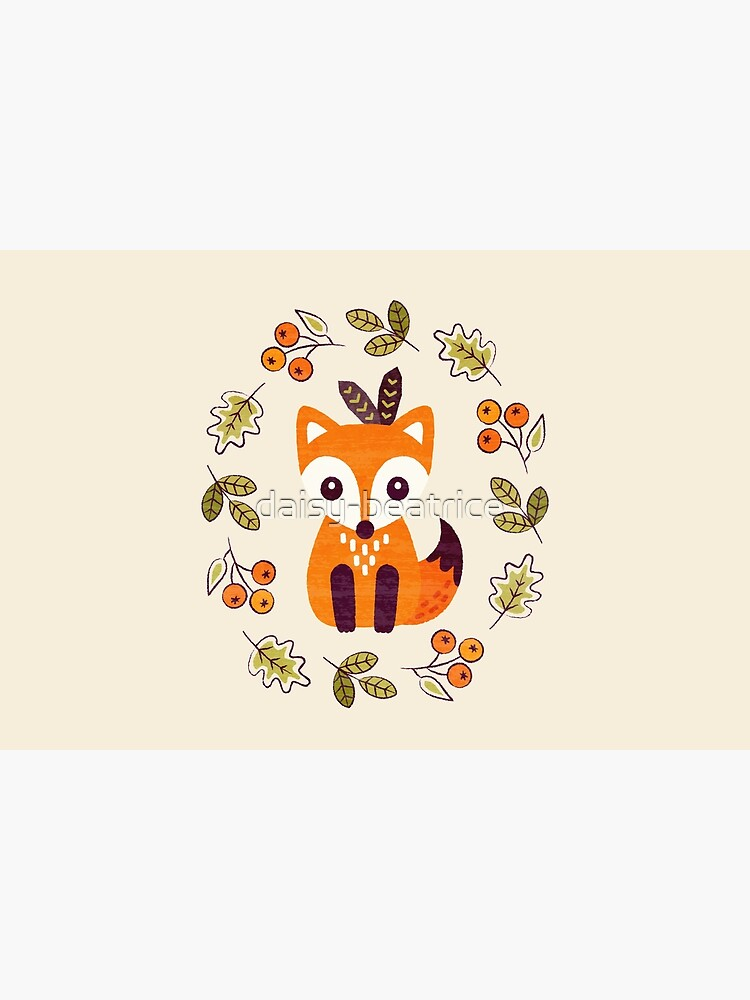 Little Fox with Autumn Berries by daisy-beatrice