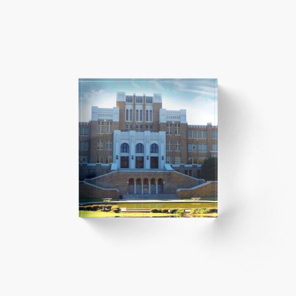 Central High School On  A Glorious Day Acrylic Block