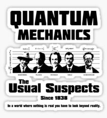 Quantum Mechanics - The Usual Suspects Sticker