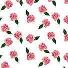 Pink Rose Pattern by ArtByMichelleT
