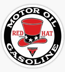 Red Hat Gasoline Shirt Sticker