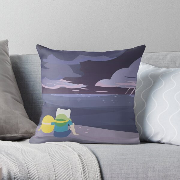 Storm Watching (Adventure Time) Throw Pillow
