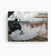 Steam Loco Y 112 On The Platform Canvas Print