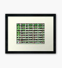 Singapore - Flags out for  National Day Framed Print