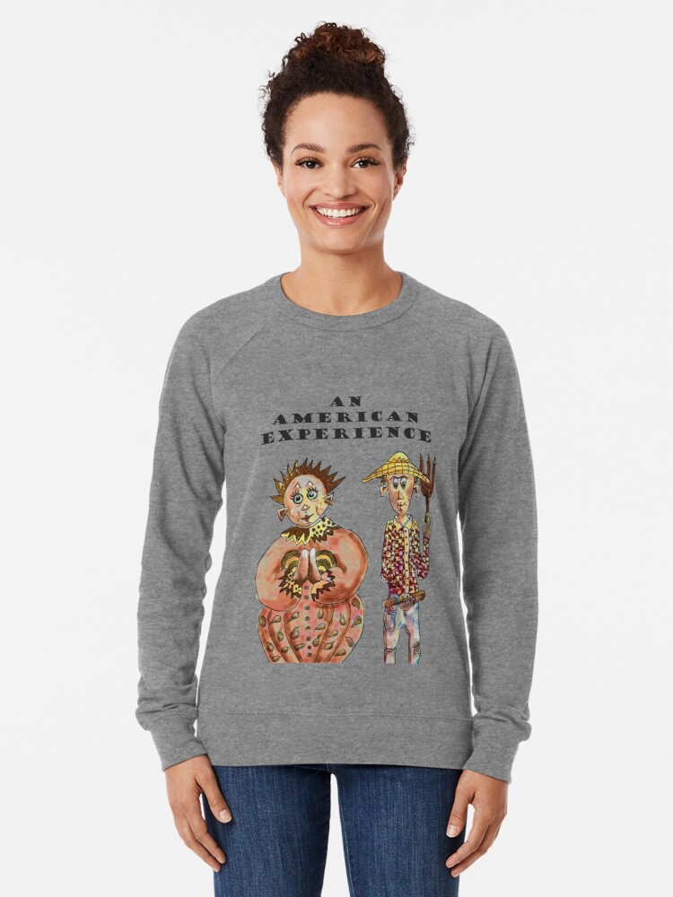Alternate view of Farmers portrait of An American Experience Lightweight Sweatshirt