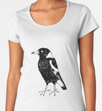 Max the Magpie - Raising funds for BirdLife Australia Premium Scoop T-Shirt
