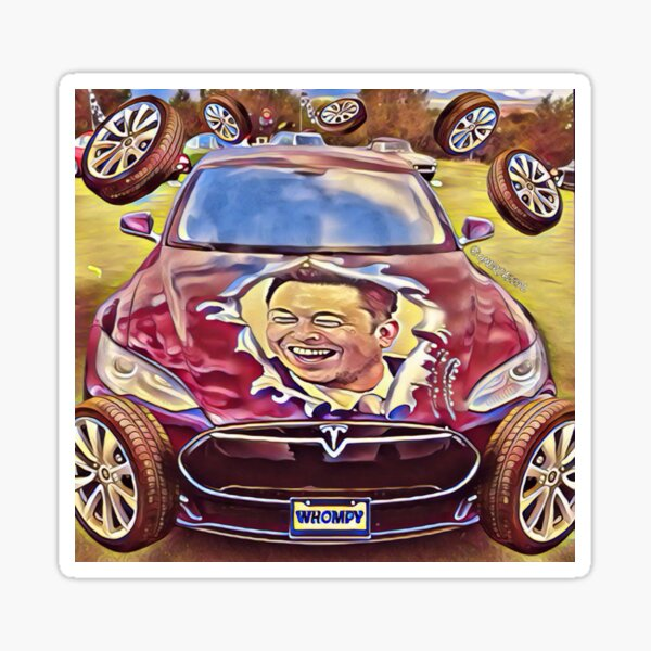 Whompy Wheel $TSLAQ Mobile (for Keef, the wombat) Sticker