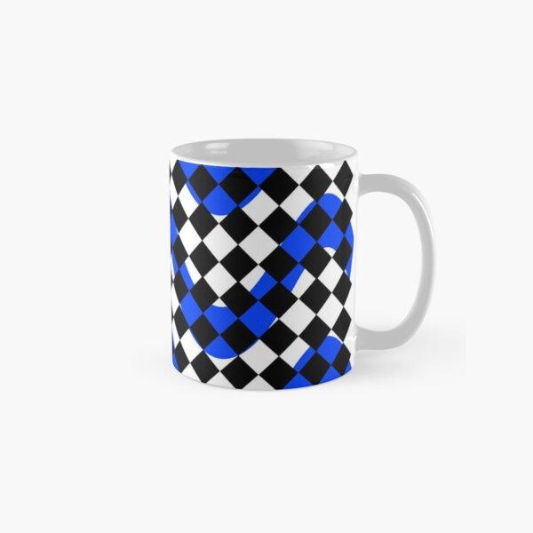 Black White & Blue Print Classic Mug