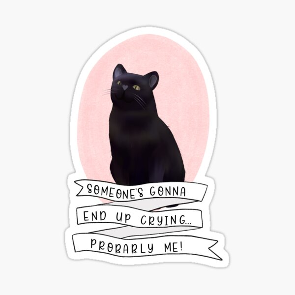 Someone's Gonna End Up Crying...Probably Me! Sticker