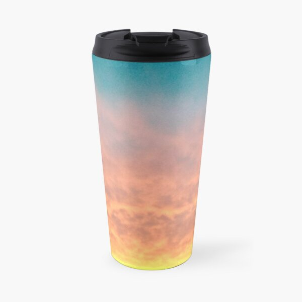 The sun sets and night begins to fall Travel Mug