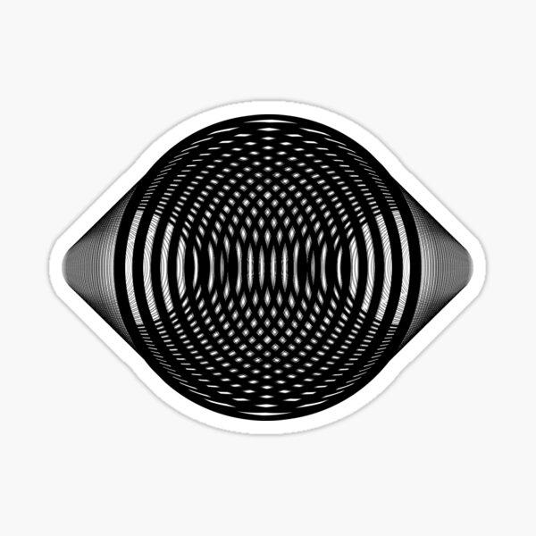 Visual Illusion #VisualIllusion Optical #OpticalIllusion #percept #reality Glossy Sticker