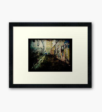 Laneway Grunge Framed Print
