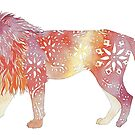 Flower Power Lion - Sahara Tones by AuntieBetty