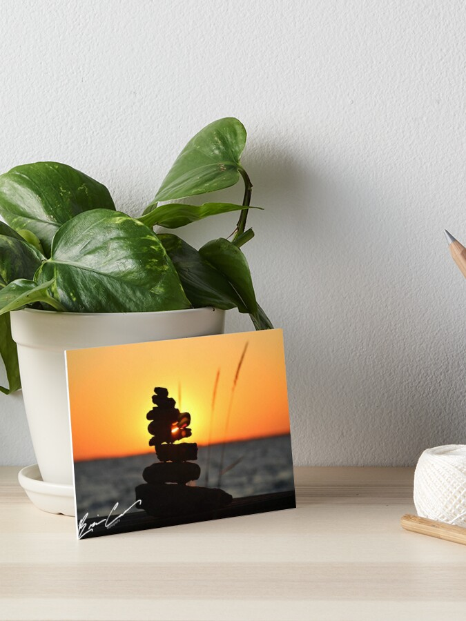 Stacked Rocks Art Board Print By Bcolesphoto Redbubble